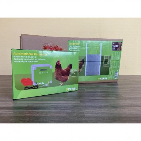 Hühnertür automatisch inkl. Schiebetür 220x330cm