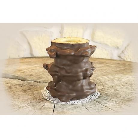 Baumkuchen mit Zartbitterschokolade