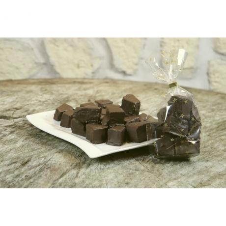 Baumkuchenspitzen mit Zartbitterschokolade