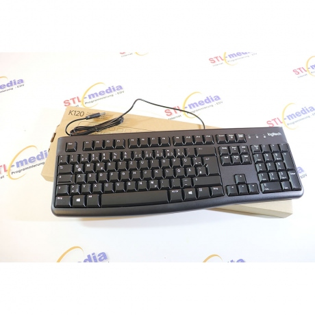 Logitech Tastatur K120 schwarz