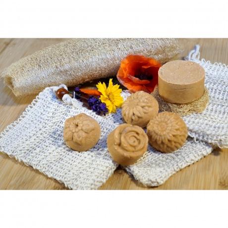 Shampoo & Duschstück - Aprikose-Rosengeranie
