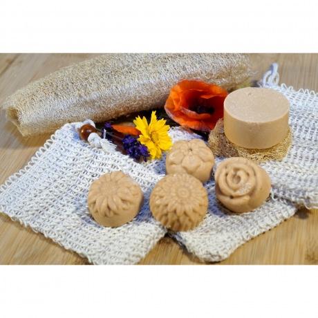 Shampoo & Duschstück - Moringa-Samtblume