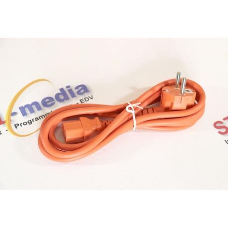 Kaltgeräte Anschlusskabel orange 3m