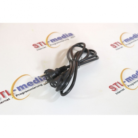 Kaltgeräte Anschlusskabel schwarz 5m