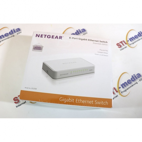 Netgear Switch 8-Port 1GBit GS208-100PES