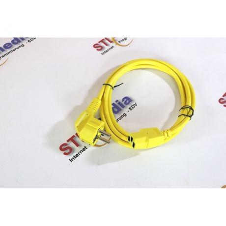 Kaltgeräte Anschlusskabel gelb 1,8m