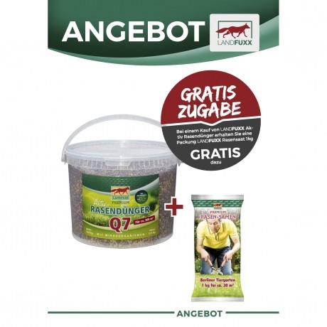Rasendünger Start Q7 Landfuxx; 12,5kg (Plus 1kg Rasensaat)
